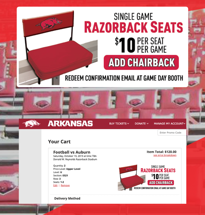 More Info for Upsell Chairbacks in Ticket Orders