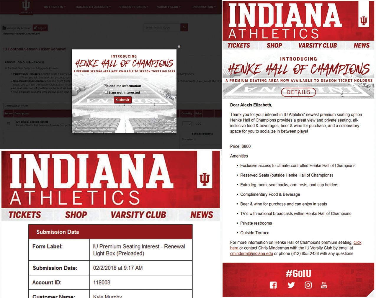 More Info for Indiana University captures interest on Premium Seating